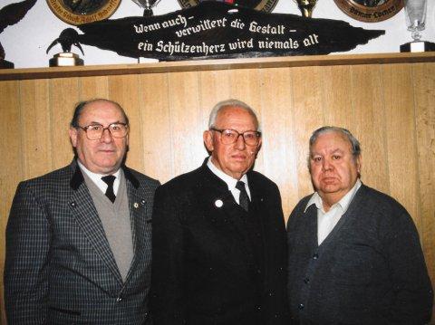 v.l. Josef Burkart, Ottmar Locher, Paul Wolf