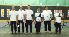 Landesliga-Team (Nino Ullmann, Thomas Gengenbacher, Jonas Bentele, Roman Hartmann, Frank Ludwig, Adrian Eckel, es fehlt: Jörg Eckel)