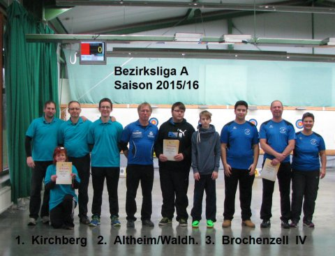 Siegerehrung Bezirksliga A 2016