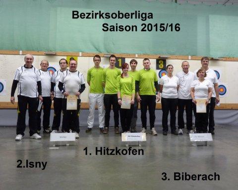 Siegerehrung Bezirksoberliga 2016