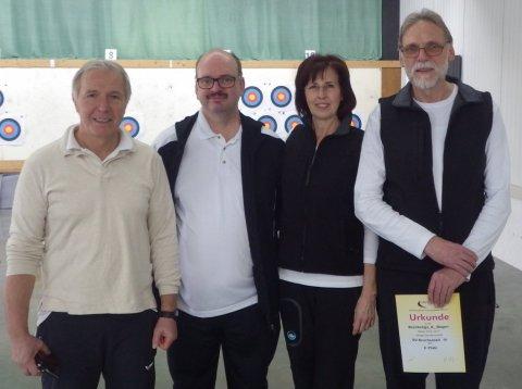 Liga-Team 4: Heinrich Schmidt, Angelo Rizzolo, Ursula Klein, Rainer Klein