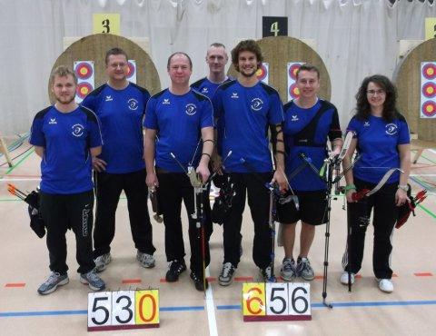 Liga-Team 1: Roman Hartmann, Jörg Eckel (Trainer), Nino Ullmann, Thomas Gengenbacher, Jonas Bentele, Adrian Eckel, Nicole Flitz